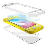 Carcasa Transparente Full  + Lamina / Nintendo Switch Lite