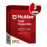 Mcafee 2020 Total Protection 3 Años 1 Pc Tecnoarte