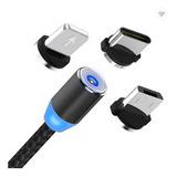 Cable Cargador Magnético Usb 3 En 1 Tipo-c/micro Usb/iPhone