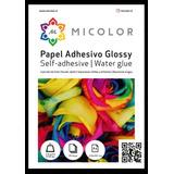 Papel Adhesivo Glossy A4/135g/50 Hojas