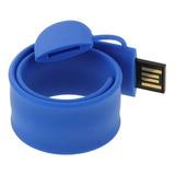 Flash Usb Pulsera Silicona Disk Memoria 32gb Purpura