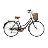 Bicicleta Lahsen City Bike Provenza Aro 26 Negro Retro Lady