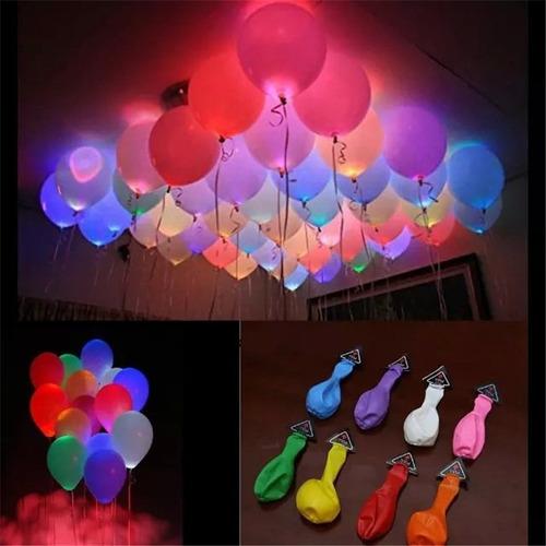 Pack 75 Globos Fluor Luz Led Colores Surtidos Envio Gratis