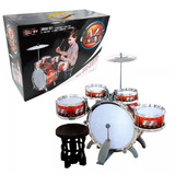 Bateria Musical Juguete Jazz Drum Niño Roja