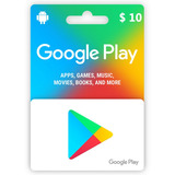Tarjeta Google Play 10 Usd Dolares Gift Card Envio Inmediato