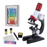 Microscopio Con Led Niños Estudiantes Principiantes