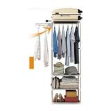 Closet Ropero Armable Estante 170x55x32cm- Xt/ Cafe Gris