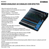 Mixer Analogo 20 Canales Con Efectos