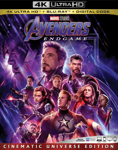 Avengers Endgame 4k + Blu-ray + Digital Hd