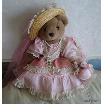 Osita Peluche Vestida Estilo Victoriano/coleccion