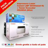 Imp Laser Canon Lbp6030w Wifi+ 1 Toner Hp 85a Regalo 1600pag