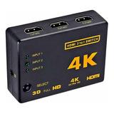 Switch Hdmi 4k 3x1 Splitter Video Alta Calidad Controlremoto