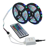 10m 3528 Smd Rgb Flexible Led Tira De Luz 600leds +44 Clave