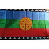 Bandera Mapuche 60 Cm Ancho X 100 Cm Largo