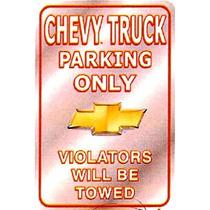 Chevy - Letrero Metálico 43 Cm X 20 Cm