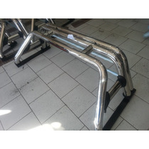 Barra Antivuelco Chevrolet Dmax Acero Inox. Triple Arco