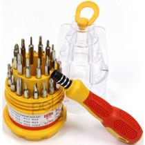 Kit 31 Destornilladores Reparacion Celulares Torx Con Iman