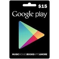 Google Play 15 Dolares Usa Americana Playstore Gift Card Usd