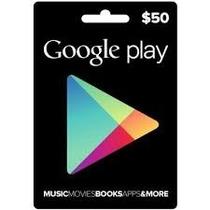 Google Play 50 Dolares Usa Americana Playstore Gift Card Usd
