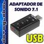 Tarjeta Adaptador De Sonido Usb 7.1 Sonido Virtual