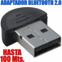 Mini Adaptador Bluetooth Dongle 2.0 3mbps Hasta 100 Mts.