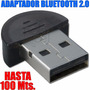 Mini Adaptador Bluetooth Dongle 2.0 3mbps Hasta 100 Mts.