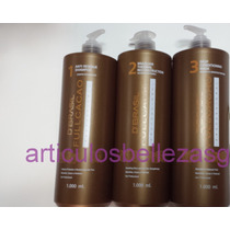 Keratina Brasil Cacao, Kit 1 Litro,3 Pasos Incluidos