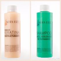 Kit Shock De Keratina Kera-lizz® 250 Ml. + Shampoo Pre Trat.