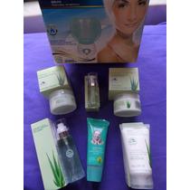 Vaporizador Facial + 6 Cremas Para Cosmetologia Aloe Vera