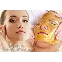 Mascara Facial Colageno, Ac Hialuronico Y Oro 24k, 5 X
