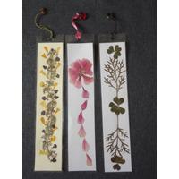 Marcador De Libro Con Flores Naturales