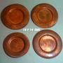 Platos De Cobre Uc Chilenos Vintage De 16 Y 14 Cm. B/estado.
