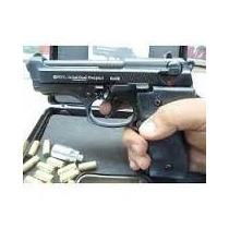 Pistola A Fogueo Salvas Caja Y Baqueta Full Metal , Nueva
