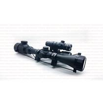Kits Mira Telescopica + Linterna + Laser Tactico Con Montura