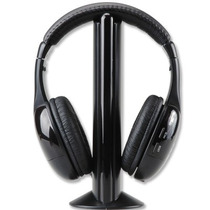 Audifonos Inalambricos 5 En 1 Microfono Integrado Tv Pc Mp3