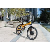 Bicicleta Eléctrica Plegable, Aluminio, Doble Suspensión.