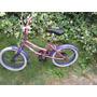 Bicicleta Niñita Ar0 16 Color Rosado Con Morado Usada