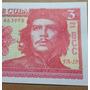 Billete Cubano 3 Pesos Che Guevara Sin Circular, Impecable