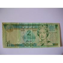 Billete Isla De Fiji 2 Dolares Ex Colonia Britanica Escaso