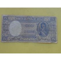 Billete Antiguo Cinco Pesos
