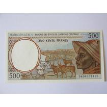 Billete Africa Camerun 500 Francos Unc Muy Escaso