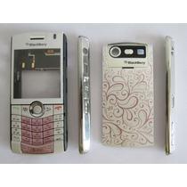 Carcasa Blackberry 8120 Blanca Rosa Original Completa