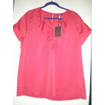 Hermosa Blusa Roja Xl Nueva