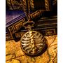 Reloj De Bolsillo Steampunk Victoriano Esqueleto Bronce