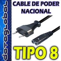 Cable Poder Tipo 8 Para Cargadores De Netbook, Consolas