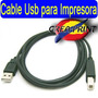 Cable Usb 2.0 Para Impresora 3 Mtrs Hp Epson Canon Lexmark
