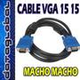 Cable Vga Monitor 15 Metros 15 15 Pines Macho
