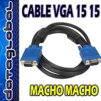 Cable Vga Monitor 25 Metros 15 15 Pines Macho