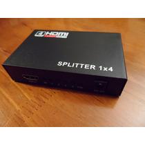 Amplificador Splitter Hdmi 1x4 V1.4 Full Hd 3d Activo