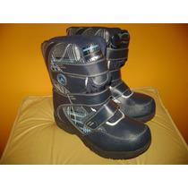 Botas Para Nieve Y Agua Airwalk Azul Cuadrille Nros 38.5